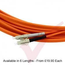 lc to lc fibre patch cable om3 flat duplex ruggedized orange
