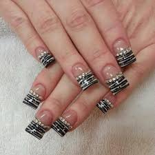 nail art zebra bling