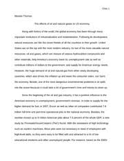 economics study resources 5 pages overview of us economy essay