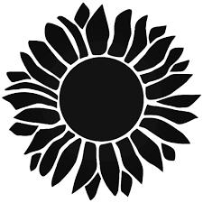 Sunflower Stencil Designs Sunflower Petal Flower Vinyl Decal Sticker Ballzbeatz Com
