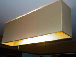 rectangular ceiling light. A Custom Made Product: \u201cCamelot Wheat\u201d Double Laminated Rectangular Ceiling Shade, 40\u2033 Long, 16 Inches Deep And 8\u2033 Wide. Light