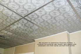 textured ceiling paint bathroom. cover ugly drop ceiling panels with textured wallpaper and then spray paint paper grids | decorate pinterest panels, bathroom