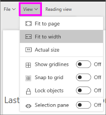 Page display settings and page view settings for a report - Power BI ...