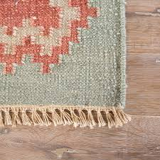ashlin flat weave wool rug corner closeup