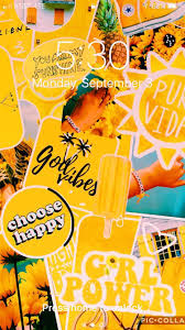 Wallpaper Aesthetic Yellow Collage ...