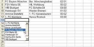 Excel 2017 auswahlliste