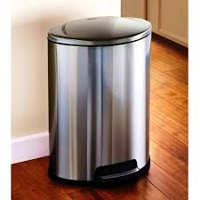 black gallon trash can stainless steel kitchen cans