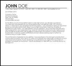 school cover letter free school guidance counselor cover letter templates coverletternow