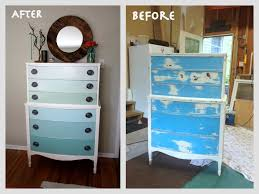 diy furniture refinishing projects. Nature Inspired Handcrafted Jewelry: OMBRE Painted Dresser Tutorial - How To Refinish Old Furniture In 10 Easy Steps! Diy Refinishing Projects T