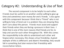 citizenship friendship essay feedback the prompt what does 5 category