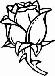 Small Picture Rose Coloring Pages with subtle shapes and forms can be colored