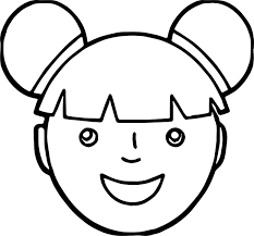 Small Picture Asian Girl Face Coloring Page Wecoloringpage