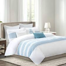 blue and white striped duvet cover full size of bedding beautiful reversible blue and white stripe