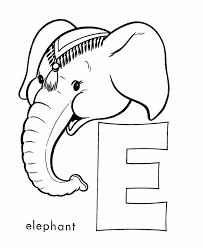 Small Picture ABC Alphabet Coloring Sheet E is for Elephant HonkingDonkey