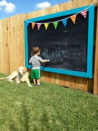 outdoor chalkboard fence wall garden 20 fence decoration makeover diy ideas