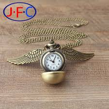 compare prices on real gold mens watches online shopping buy low fashion punk steampunk harry potter quartz pocket real watch pendant gold silver snitch wings necklace for