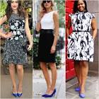 What shoes to wear with blue and green dress