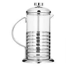 stainless steel glass french press coffee cup plunger