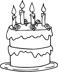Small Picture Cake Coloring Pages Printable