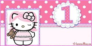 First Birthday Invitations Free Printable Hello Kitty Invitations Free Printable Templates