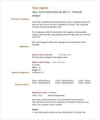 Free Blank Resume Templates For Microsoft Word Mesmerizing 48 Blank Resume Templates Free Samples Examples Format Download