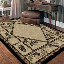 delectably yours decor beige pinecone lodge rug 2x3 2x8 4x6 5x8 or 8x10