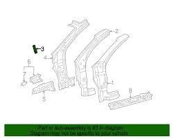 Toyota Hinge Pillar Reinforced Bracket 61158-08010 ...