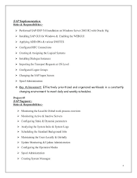 Sap Basis Resume Sample Sap Implementation Sap Basis Admin Resume