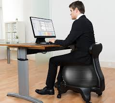 luxfit exercise ball office chair