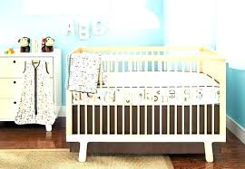 modern baby bedding sets neutral color crib gender nursery new decor brown