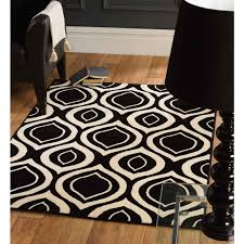 fresh black and cream rugs pleasing retro funky rug by flair