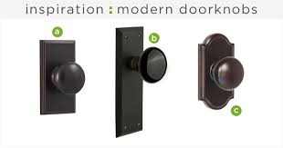 modern doorknob inspiration rather square