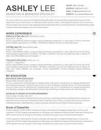 Resume Templates For Mac Stunning 4810 Resume Template Resume Template For Mac Free Career Resume Template