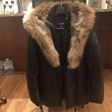 mackage ingrid winter down leather coat with fur size m