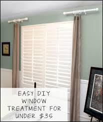 Easy DIY Window Treatments for under $35