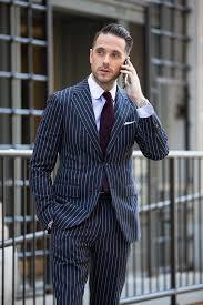 The Original Power Suit   Blue pinstripe suit, Designer suits for men, Pinstripe  suit