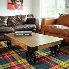 industrial furniture wheels. Industrial Vintage Coffee Table With Wheels Furniture G