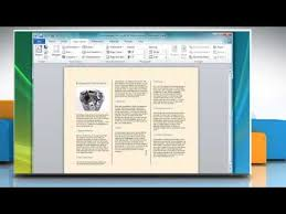 How To Do A Brochure On Microsoft Word 2007 How To Make A Tri Fold Brochure In Microsoft Word 2007
