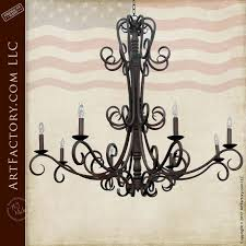 spanish iron chandelier custom hand forged lc504a