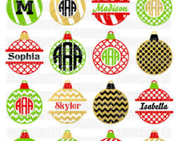 Christmas Ornament SVG Cut Files - Monogram Frames for Vinyl Cutters,  Screen Printing, Silhouette