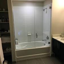 frameless bathtub door cool doors tub enclosure hinged glass