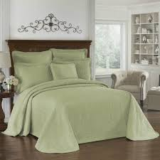 historic charleston king charles matelasse sage coverlet collection