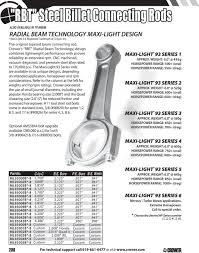 Connecting Rod Bearing Size Chart Rod Main Bearings Main Bearings Rod Bearings Standard