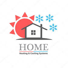 heating cooling icon. heating \u0026 cooling systems business icon template \u2014 stock vector #82509974