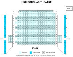 Nokia Theater Seating Chart Video Kirk Douglas Theatre Seating Chart Theatre In La