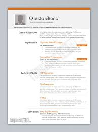 Resume Template Download Word Resumes Cv South Africa 2003 Ms Free