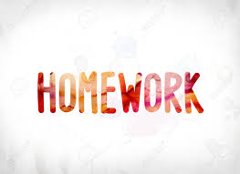 homework word the word homework concept and theme painted in colorful watercolors