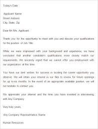 Rejection Letter Sample Confidence220618 Com