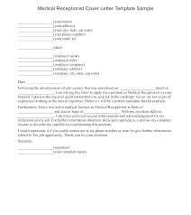 Medical Receptionist Cover Letter Cover Letter Sample Receptionist Entry Level Medical Receptionist
