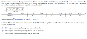 please show work find the standard deviation s of sle data summarized in the frequency distribution table
